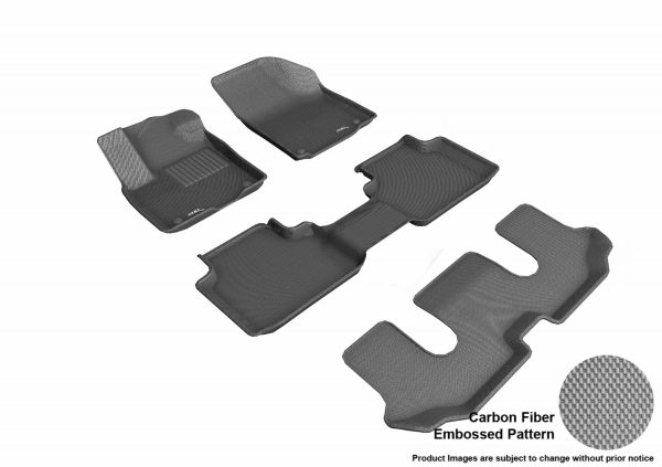 3D MAXpider L1VW08801501 Compatible for VOLKSWAGEN ATLAS WITH BUCKET 2ND ROW 2018-2019 KAGU GRAY R1 R2 R3