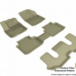 3D MAXpider L1VW08801502 Compatible for VOLKSWAGEN ATLAS WITH BUCKET 2ND ROW 2018-2019 KAGU TAN R1 R2 R3