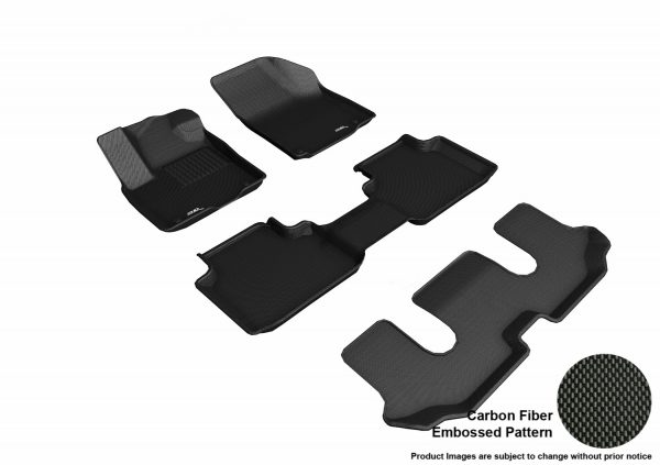 3D MAXpider L1VW08801509 Compatible for VOLKSWAGEN ATLAS WITH BUCKET 2ND ROW 2018-2019 KAGU BLACK R1 R2 R3