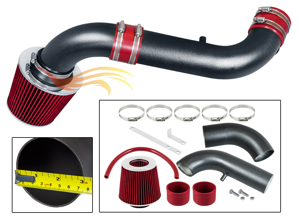 05-06 HONDA ODYSSEY//PILOT MATTE BLACK PIPE GRAY SHORT RAM INTAKE Compatible For 04-06 ACURA MDX