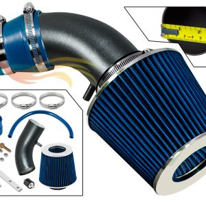 ARES MATTE BLACK PIPE BLUE SHORT RAM INTAKE Compatible For 90-93 Izusu Impulse 1.6L 1.8L I4…