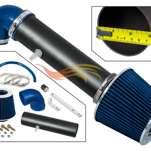 ARES Matt Black Piping BLUE SHORT RAM AIR INTAKE Compatible FOR 97-04 JEEP CHEROKEE/GRAND CHEROKEE…