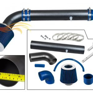 ARES MATTE BLACK PIPE BLUE - SHORT RAM INTAKE Compatible For 97-06 JEEP Wrangler 2.5L L4 / 4.0L V6…