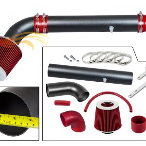 ARES MATTE BLACK PIPE RED - SHORT RAM INTAKE Compatible For 97-06 JEEP Wrangler 2.5L L4 / 4.0L V6…