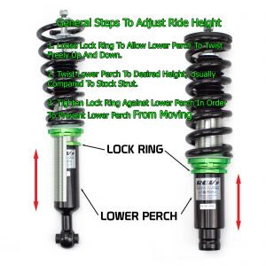 Rev9(R9-HB-1005_1) Hyper-Street Basic Coilovers, Mono Tube, Ride Height/32-Way Damping Force Adjustable, Hyundai Elantra 2011-16