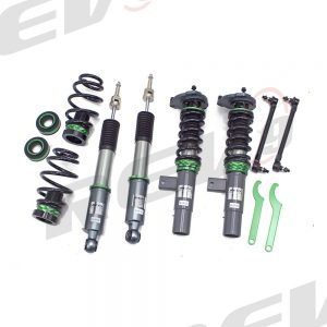 Rev9 Compatible With Volkswagen Golf/GTI(MK6) 2010-14 Hyper-Street 3 Coilovers w/ Inverted Shocks, Performance Lowering Kit