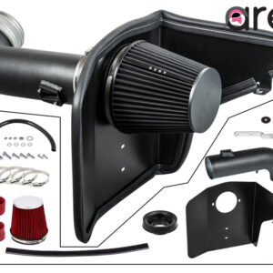 """4"""" Black Heat Shield Cold Air Intake Kit + Filter Compatible With 10-15 Chevrolet Camaro 6.2L V8"""