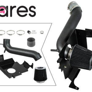 BLACK 05-10 Compatible With Charger Magnum 300 3.5L V6 Heat Shield Cold Air Intake + Filter