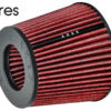 """Ares Red 2.5"""" Universal Dry Air Filter Cone Dry Filter Replacement"""
