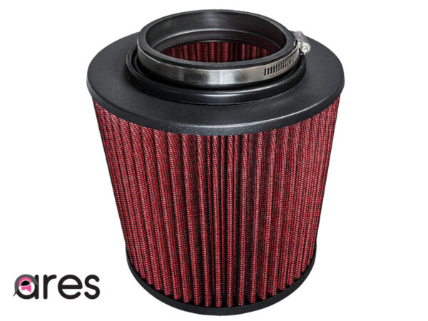 """Ares Red 3.5"""" Universal Dry Air Filter Cone Dry Filter Replacement"""